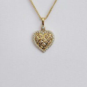 שרשרת זהב עם תליון לב דגם WP565