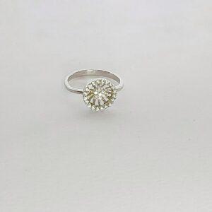 טבעת כסף דגם סנטוס