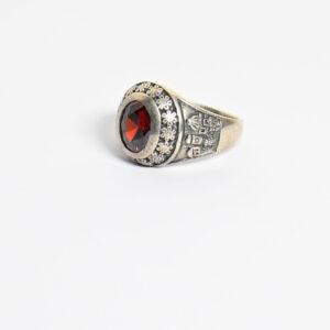 טבעת כסף לגבר דגם לין MSR192