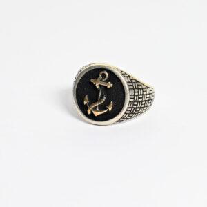 טבעת כסף לגבר דגם אוגן MSR197
