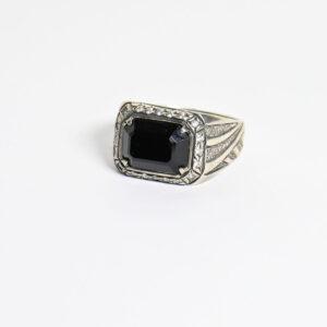 טבעת כסף לגבר דגם MSR182