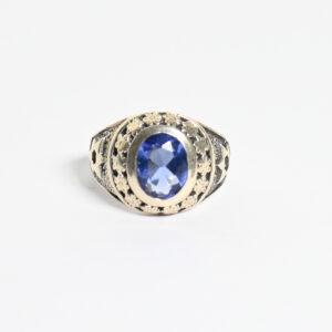 טבעת כסף לגבר דגם לין MSR194