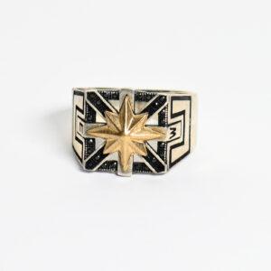 טבעת כסף לגבר דגם MSR178