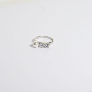 טבעת כסף דגם פנינה