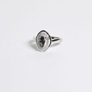 טבעת כסף עם אלכסנדריט