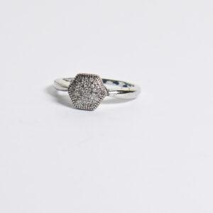 טבעת כסף אווה