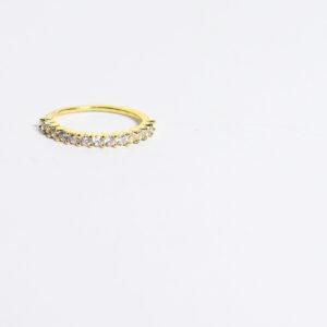 טבעת גולדפילד שיבוץ זרקונים