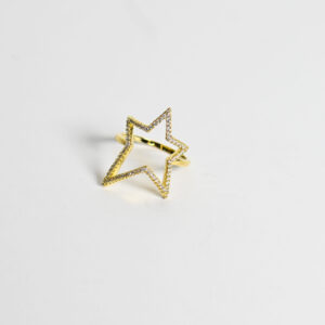 טבעת גולדפילד כוכב שיבוץ זרקונים