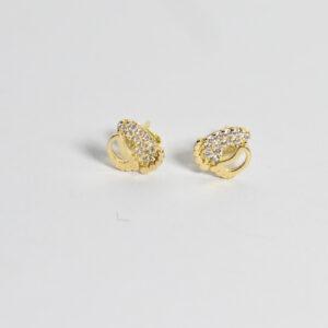Gold earrings model EW948