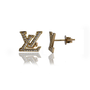 עגילי זהב דגם EW082