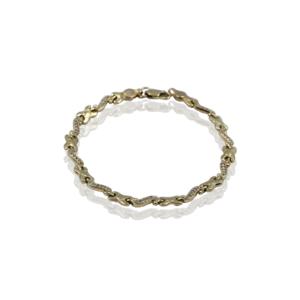 Потрясающий золотой браслет, модель WB187