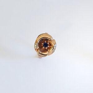 Дизайнерское кольцо с сапфиром и бриллиантами, модель BR365