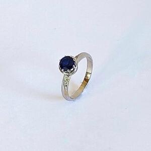 טבעת אירוסין עם ספיר דגם BR576