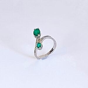 Золотое кольцо с Изумрудами BE956