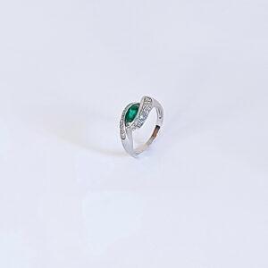 טבעת אמרלד ויהלומים דגם BE542