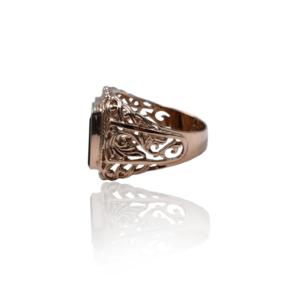 טבעת זהב עם יהלומים לגבר BR530