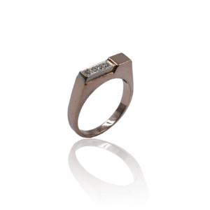 טבעת יהלומים לגבר דגם BR531