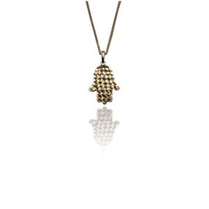 שרשרת זהב עם תליון חמסה דגם WP775