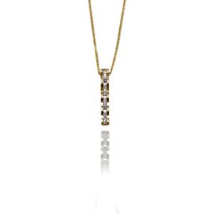 שרשרת זהב עם תליון דגם WP962