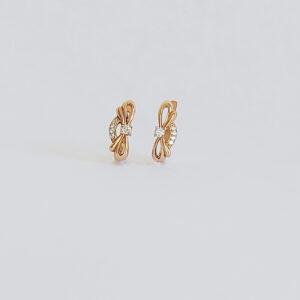 עגילי זהב דגם WE062