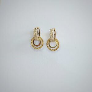 Gold earrings model WE083