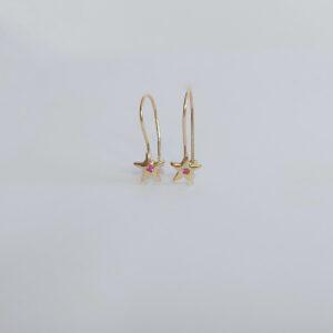 עגילי זהב כוכבים דגם WE678