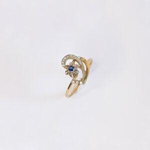 טבעת זהב מעצבים דגם WR237