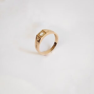 Gold ring for man MR261