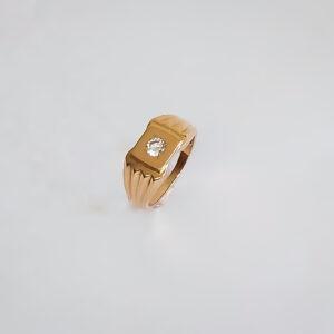 טבעת זהב לגבר דגם MR263
