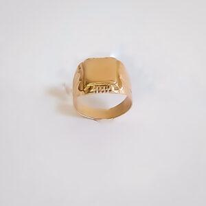 טבעת זהב לגבר דגם MR268