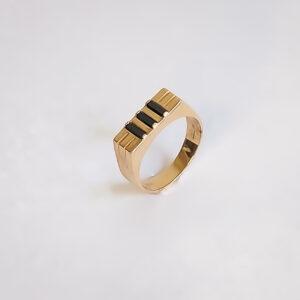 טבעת זהב לגבר דגם MR258