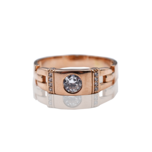 טבעת זהב לגבר דגם MR274