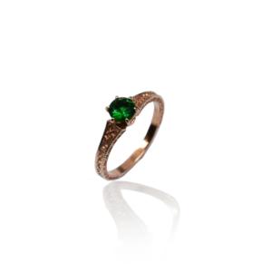 טבעת זהב אדום דגם WR304