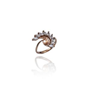 טבעת זהב עיצוב מיוחד דגם WR331