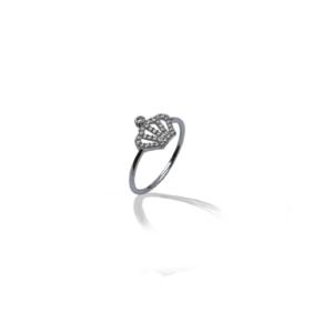 טבעת זהב לבן דגם WR731