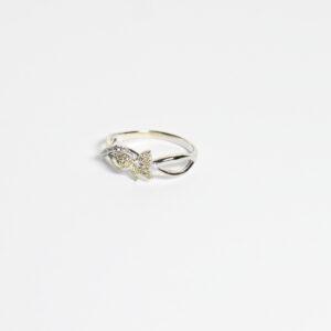 טבעת זהב פרפר דגם WR234