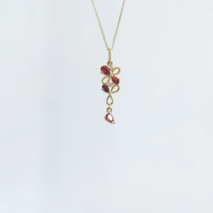 Gold chain with pendant model WP141