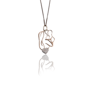 Gold chain with pendant model WP560