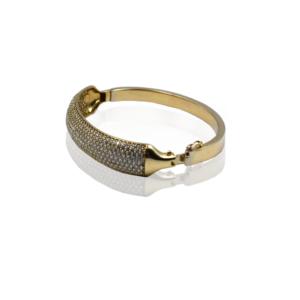 צמיד זהב קשיח מדהים דגם WB400