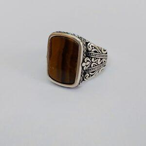 טבעת כסף מאסיבית לגבר דגם MSR180