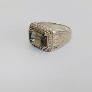 טבעת כסף לגבר דגם MSR183