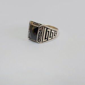 טבעת כסף לגבר דגם MSR185