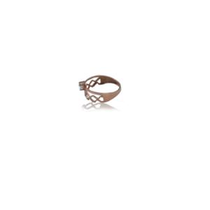 טבעת זהב כפולה דגם WR1016