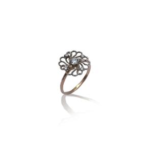 טבעת זהב בעיצוב מיוחד WR1021