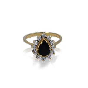 """טבעת זהב בסגנון """"נסיכה דיאנה"""" דגם WR212"""