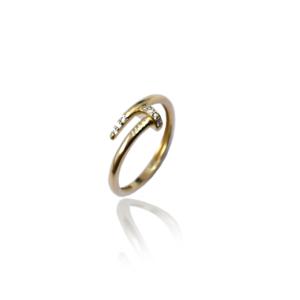 טבעת זהב בעיצוב אופנתי דגם WR237