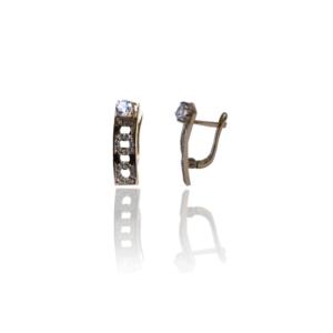 Золотые серьги оригинального дизайна, модель WE098
