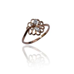טבעת זהב דגם WR1020 ROSE
