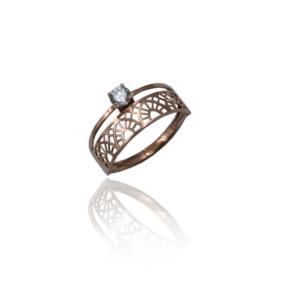 טבעת זהב כפולה דגם WR1041