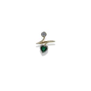 טבעת זהב לב דגם WR1054